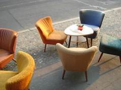 Old armchairs (individual8) Tags: berlin germany 60s may 2006 70s armchair eberswalderstrasse