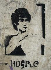Bruce Lee stenciled (Smeerch) Tags: italy streetart stencils black rome roma muro art wall graffiti stencil paint italia arte spray lee walls graffito nero brucelee aerosolart spraycan lazio muri artedistrada hogre