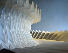 Pleat (Richard Sweeney) Tags: sculpture art geometric paper paperart design origami fineart craft architectural faceted repetition folded organic paperfolding papercraft pleated papersculpture artsculpture paperstructure origamicarchitecture  richardsweeney architecturalorigami paperpleating