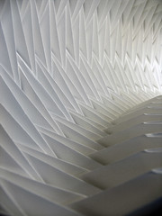 Pleat (Richard Sweeney) Tags: sculpture art geometric paper paperart origami coverart fineart architectural faceted repetition folded organic albumart paperfolding papercraft pleated mattyg papersculpture artsculpture paperstructure origamicarchitecture  richardsweeney architecturalorigami paperpleating argonrecords