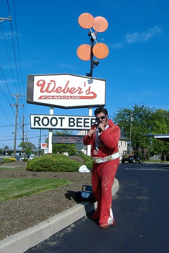 Elvis at Weber's Famous Root Beer