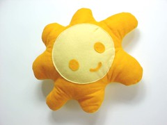 Mr. Sunshine  -   (Warm 'n Fuzzy) Tags: summer orange sun cute yellow toy craft inanimate felt plush softie kawaii warmnfuzzy warmnfuzzynet