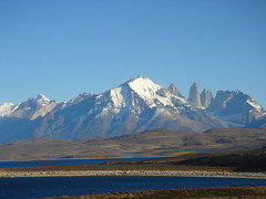 Torres Del Paine, Chile (willposh) Tags: chile patagonia mountain lake snow mountains cold southamerica water landscape 2006 torresdelpaine snowcappedmountains