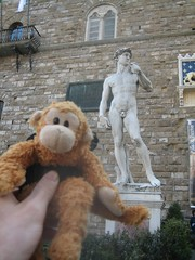 Two Figures of Legend (icelight) Tags: italy david statue florence europe springbreak michelangelo tenzing packmonkey