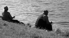 I'd rather be fishing (robinzeggs) Tags: people bw lake fish blackwhite spring fishing maryland 4seasons payitforward centenniallake calendarshot 123bw 1on1bw