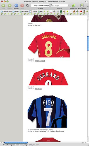 football camino fifa soccer jersey worldcup fonts linotype