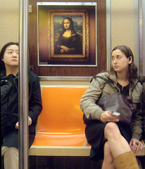 DSCF9486_monas_subway (lauratitian) Tags: nyc subway metro monalisa spycam
