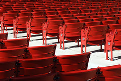 red seats (IHP) Tags: light red chicago abstract lines tag3 taggedout tag2 tag1 gehry row structure aisle seats millenniumpark curve pritzker nikonstunninggallery takenbyrpg