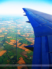 Wing, Dublin, Ireland (Seven Seconds Before Sunrise) Tags: travel ireland dublin window airplane landscape europe aerial eire