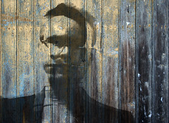 Selfportrait in wood (Aeioux) Tags: wood uk blue deleteme5 deleteme8 selfportrait deleteme deleteme2 deleteme3 deleteme4 green deleteme6 deleteme9 deleteme7 me topf25 topc25 topv111 tag3 taggedout photoshop fence wonderful grey glasses birmingham topv555 topv333 peeling paint saveme4 tag2 saveme5 saveme6 tag1 500v20f saveme2 saveme3 saveme7 topv1111 topc50 topv999 over overlay 100v10f double nails saveme8 saveme9 photomontage lookatme topv777 510f aeioux utatafeature deleteme9scf steflewandowskimypic aeiouxbirminghamuk