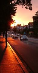 An Unaltered Sunset (Henry Lancaster III) Tags: street sunset nc raleigh 2006 hillsborough