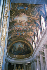 Chapel Ceiling, Versailles (Cameron Booth) Tags: 2003 vacation france geotagged europe chapel ceiling versailles chateaudeversailles scannedfromnegative geo:lat=48804917670409 geo:lon=21207028679459 roofsceilings