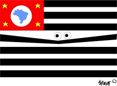 Cartoom - Fear in So Paulo (Ayanami Ceres) Tags: people state flag fear humour paulo so paulistas cartoom
