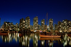False Creek f8 (Mikey720) Tags: night vancouver creek reflections d50 cityscape nightlights nightshot quality waterblur dslr false 24mmf28af