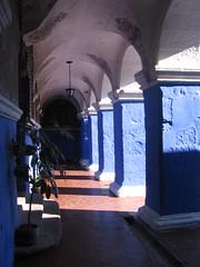 Blue Collonade (Firgs) Tags: peru monastery arequipa santacatalina