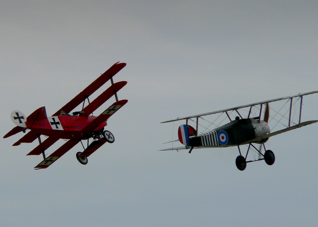 A classic duel (from air show)
