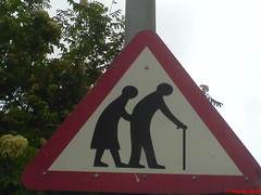 Old People Sign - by rileyroxx