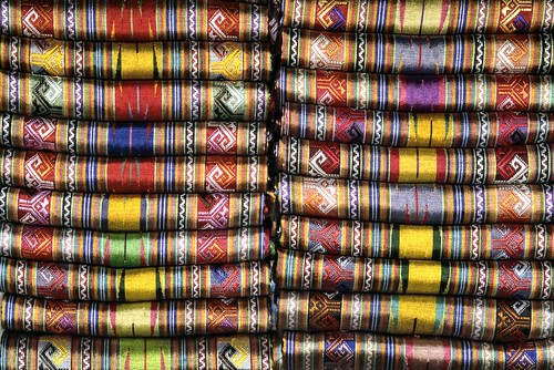 Silk on sale in Mandalay, Myanmar