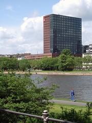Mainforum (visualdestiny) Tags: city urban architecture buildings river downtown frankfurt main fluss mainhattan mainforum