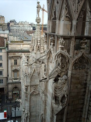 Gargoyles and statues (hugovk) Tags: cameraphone camera roof italy milan rooftop statue del digital spring italian italia cathedral milano may statues 2006 gargoyle piazza duomo gargoyles hvk miln lombardy gargoylesandstatues tricolore piazzadelduomo kevt hugovk exif:ISO_Speed=50 exif:Focal_Length=77mm digitalcamerads5mp exif:Flash=autodidnotfire exif:Aperture=30 exif:Orientation=horizontalnormal exif:Exposure_Bias=0 exif:Exposure=1258 ds5mp camera:Model=ds5mp camera:Make=digitalcamera meta:exif=1380277861