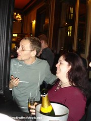 Owen and Me (Mojen) Tags: boyfriend me 30 bar geotagged jen drinking 30thbirthday 30th owen partner nottakenbyme owenblacker jenblower geotoolgmif sonydscp100 takenbymattnott owens30th geolon0112245 geolat51515807