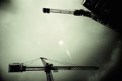 (-Antoine-) Tags: 2 sun canada green film soleil lomo lca construction exposure montral quebec crane doubleexposure montreal vert double cranes exposition qubec doubleexposition doublexp grue bleury grues antoinerouleau