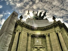 let go why don't you ([phil h]) Tags: sky sun sunlight paris france topf25 topv111 architecture clouds 1025fav 510fav wow topf50 topv333 europe 500plus veiled minolta topv1111 columns grain topv444 fv5 topv222 lensflare flare scaffold palais a200 parisist topv888 konicaminolta grandpalais