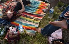 sun nap (pixietart) Tags: nyc music sun color feet grass nycpb concert rainbow nap live band blanket barefeet gothamist rooseveltisland toddp toddpbbq
