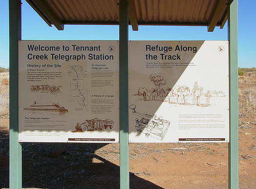 Sign about the place