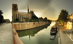 Notre Dame de Paris - 9-06-2006 - 7h20 (Panoramas) Tags: panorama paris france church topv111 seine point geotagged cathedral perspective iglesia kirche notredame chiesa cathdrale vanishing glise eglise hdr kathedral enblend etiennecazin   topvaa interestingness181 pointdefuite interestingness450 i500 abigfave geo:lon=2348435 geo:lat=48852433  tiennecazin
