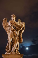 1-The Angel (Ketosea) Tags: bridge light sky moon rome statue night clouds d50 amazing nikon bravo searchthebest explorer apex oneyear castelgandolfo p1f1 paraponziponzip ketosea impressedbeauty danilomall