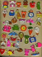 vintage google-eye puffy stickers (dogboneart) Tags: vintage 80s 70s googleeyes puffystickers