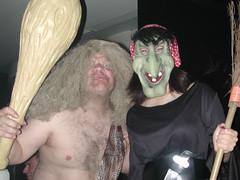 Caveman & Sorceress (Pat Rioux) Tags: madrid people halloween circus staff artists acrobats cirque cirquedusoleil dralion aroundtheworld europeantour
