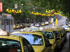 A Melbourne Christmas (Mimi_K) Tags: christmas yellow stars melbourne taxis moo available collinsst msh0311 msh03116
