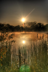 Foggy Morn... (Aldo Risolvo) Tags: morning sun reflection 20d water fog sunrise canon landscape pond foggy aldo range hdr cataldo cataldo1977 risolvo