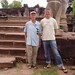 Sean with Geoff Howe at Prasat Hin Phimai, Isaan Thailand