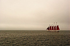 Lullaby (musicmuse_ca) Tags: water fog sailboat wow wonder boat nice fantastic ship song horizon great maine atlantic 2550fav 50100fav stunning tallship barharbor lullaby isleauhaut gordonbok interestingness10 i500 myportfoliobest portfolio10
