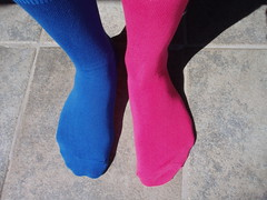 But of course ... Flickr socks! (mrjorgen) Tags: pink blue stockings socks flickr rosa sokker pippilongstocking blå flickrcolors flickrcolours flickrland strømper pippilangstrømpe flickrsocks flickrcolrs fl1108 catchycolorsflickrish minicardkandidat moocardkandidat