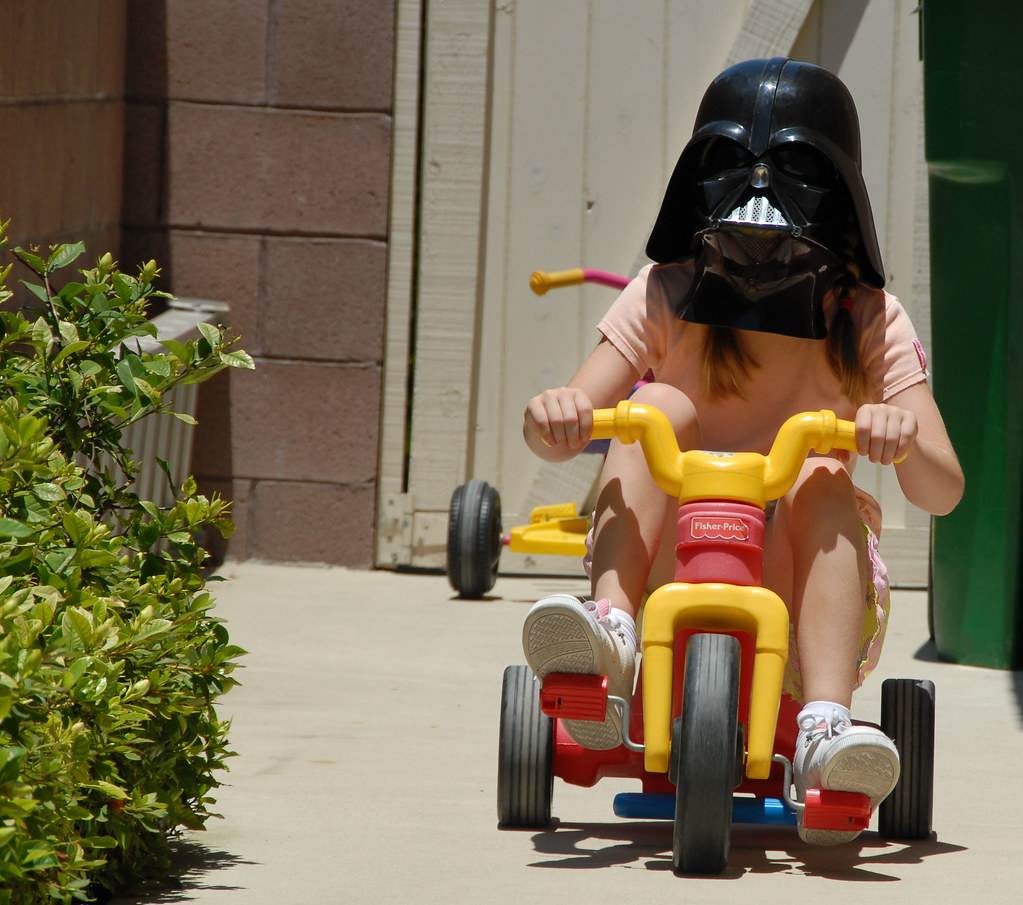 Darth Vader girl tricycle