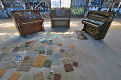 Pianos Free (otherthings) Tags: sanfrancisco carpet graffiti cathedral piano free streetfurniture pianos samples pianofree carpetsamples