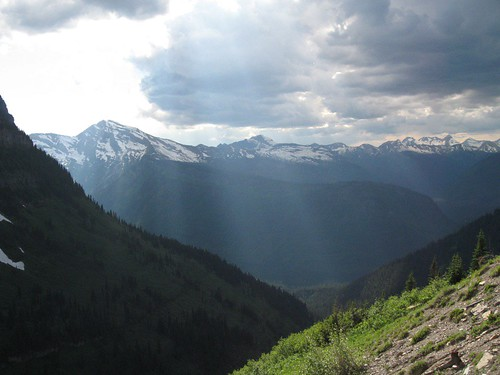 View from Going-to-the-Sun Road in Glacier National Park
