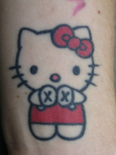 Hello Kitty Straight Edge Tattoo. by PINK INK | Tattoo Blog 18 oct 08 You
