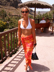 It was quite hot there!!! (clit_kitten) Tags: me self cati sarong catrinmiddleditch grancanara