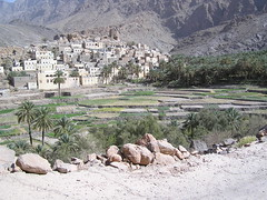 Oman March 2004 - mountain village Bilat Sayt