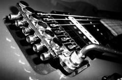 Guitar Details (Sylvain Sylvain) Tags: bw music white black blanco branco canon 350d europa europe noir guitar negro preto nb weis bianco blanc nero schwarz lag musique guitare sylvainsylvain 黑白色 sylvainclep 백색 m3l0dym4k3r 黒い白 까만