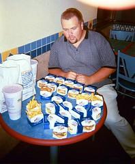 Stephen Assumes The Gorging Position (rutless.com) Tags: food white castle tyson burger harold stephen burgers slider whitecastle haroldandkumar sliders kumar slyders slyder