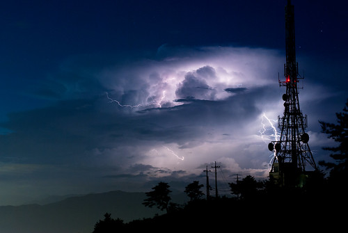 Lightning in a thunderhead