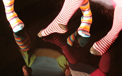there's something missing. (Extra Super Cutie) Tags: socks julie stripes ja mudpuddle extrasupercutie thesockproject thesockprojectjulieedition
