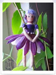 purple fairy 001 (ccyytt) Tags: flower toy stuffed doll purple handmade sewing craft fairy