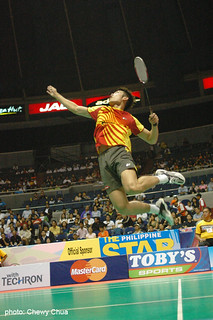 Lin Dan's jump smash